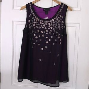 NWT Lane Bryant Sequin Flower Cami Top Size 14